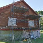 Timmerbyggningen inför fasadmålning